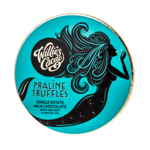 Willie's Cacao - Praline Truffles Milk Chocolate with Sea Salt 110g