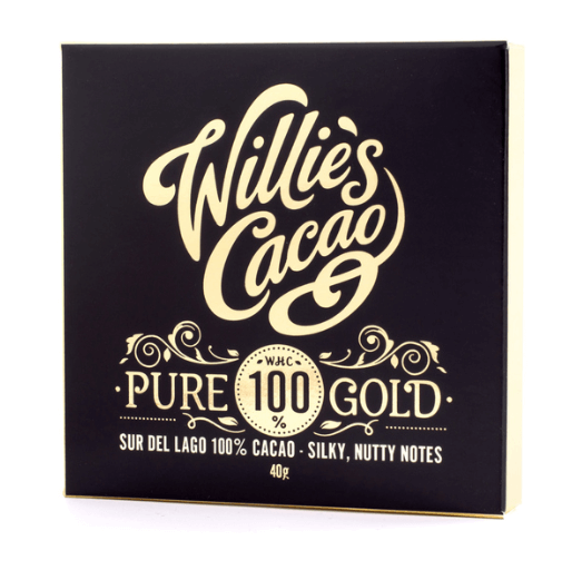 Willie's Cacao - Pure 100% Gold - Ren Mørk Chokolade fra Venezuela 40g