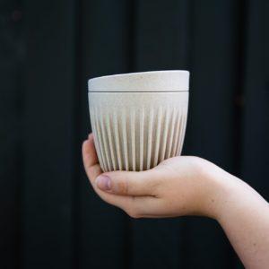 HuskeeCup Låg Natur (4 Stk) - Produceret af kaffebær