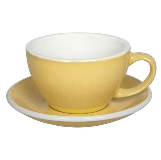Loveramics Egg - Cafe Latte 300 ml Kop og underkop Lys gul (Butter)