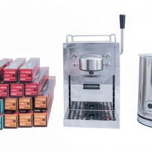 Sjöstrand Kapselmaschine und Milchaufschäumer + 1/2 Jahr verbrauch von Have A Coffee Kaffeekapseln*