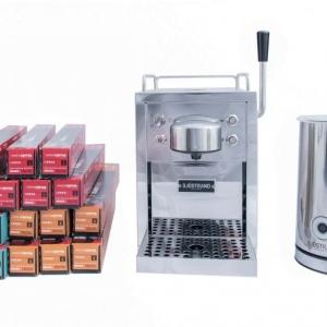 Sjöstrand Kapselmaschine und Milchaufschäumer + 1/2 Jahres verbrauch von Have A Coffee Kaffeekapseln*